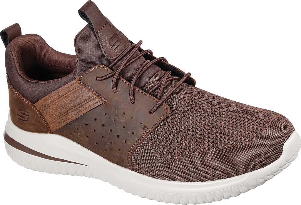 Men's Skechers Delson 3.0 Cicada Sneaker, Chocolate Dark Brown, large, image 1