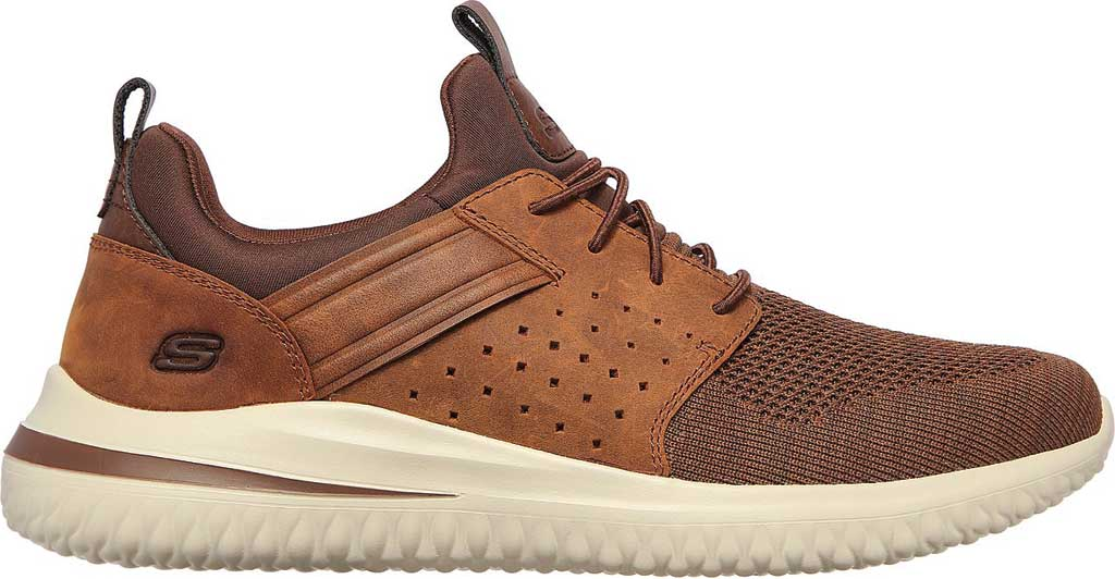 Men's Skechers Delson 3.0 Cicada Sneaker, Chocolate Dark Brown, large, image 2