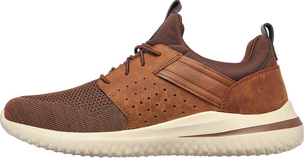 Men's Skechers Delson 3.0 Cicada Sneaker, Chocolate Dark Brown, large, image 3