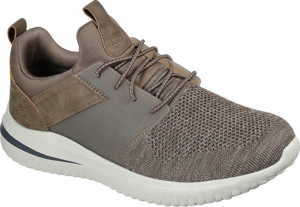 Men's Skechers Delson 3.0 Cicada Sneaker, Khaki, large, image 1