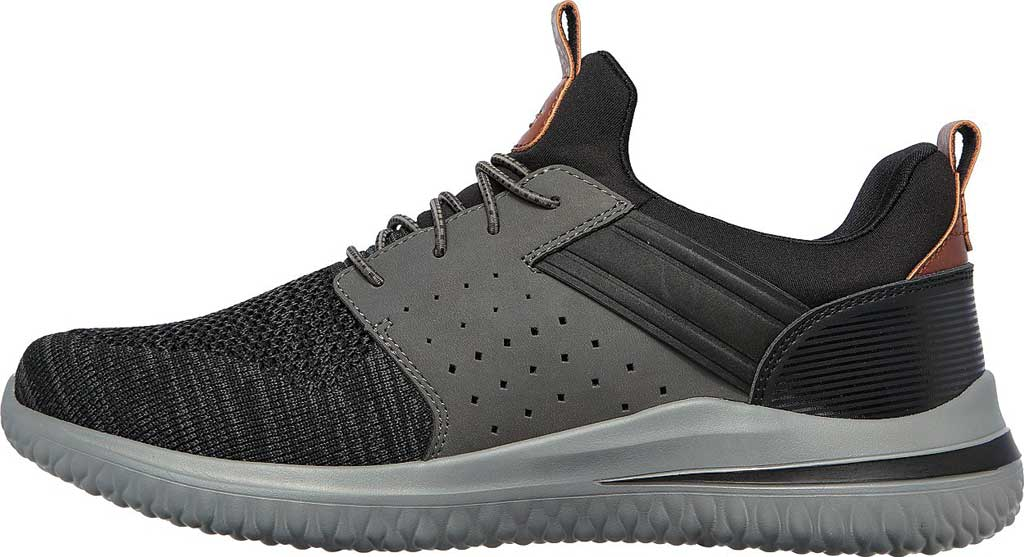 Men's Skechers Delson 3.0 Cicada Sneaker, Black/Gray, large, image 3