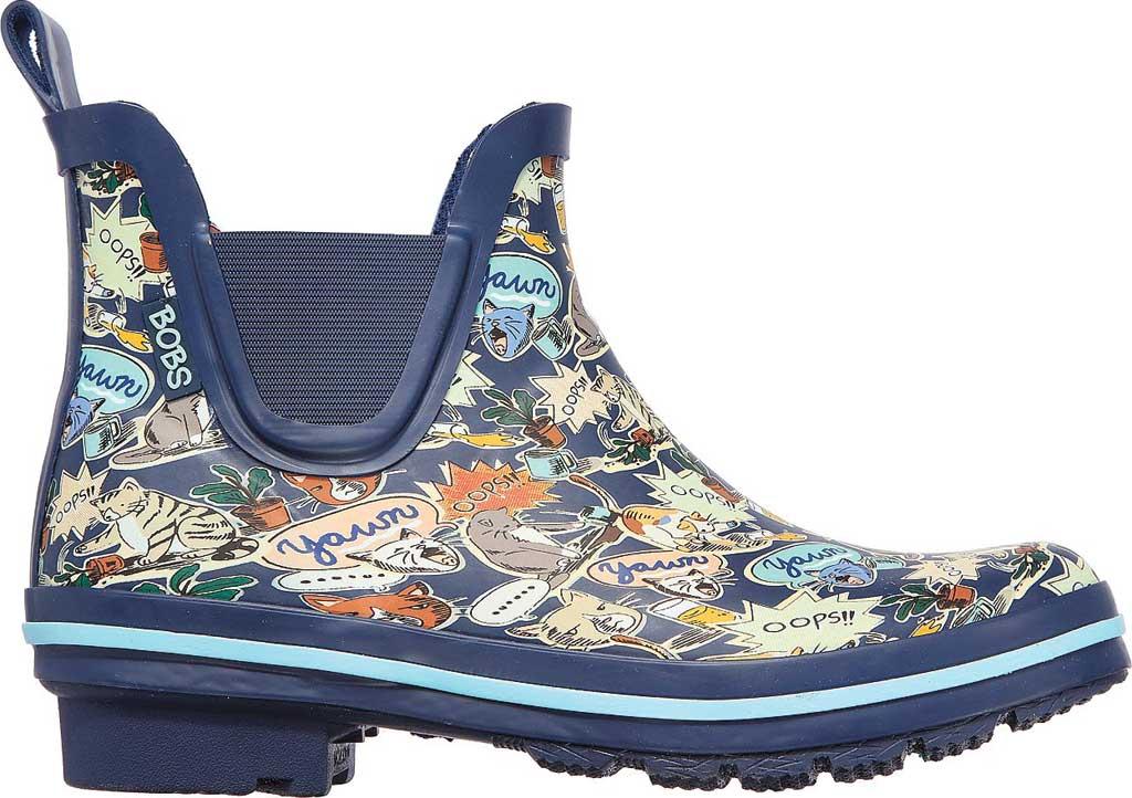 Women's Skechers BOBS Rain Check Shower Power Rain Boot, Navy/Multi, large, image 2