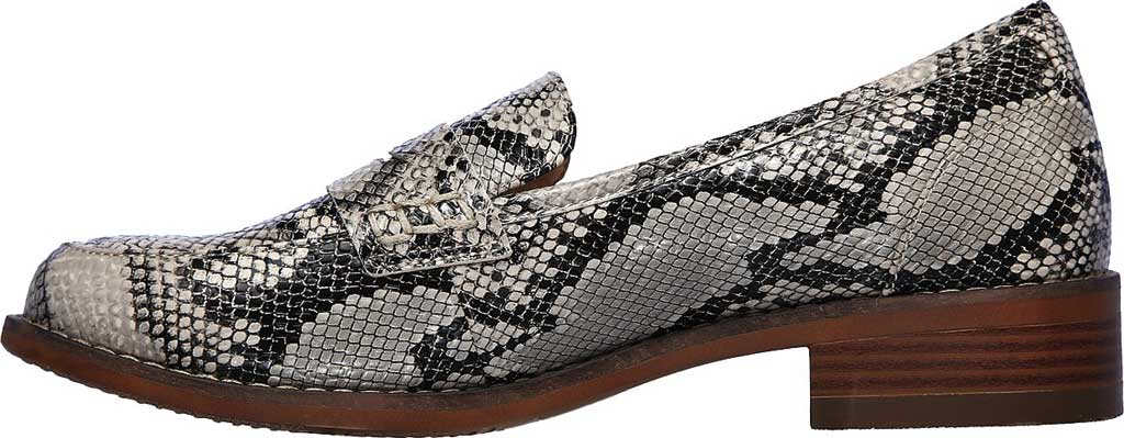 Women's Skechers Lala Sly Vegan Penny Loafer, Natural/Black, large, image 3