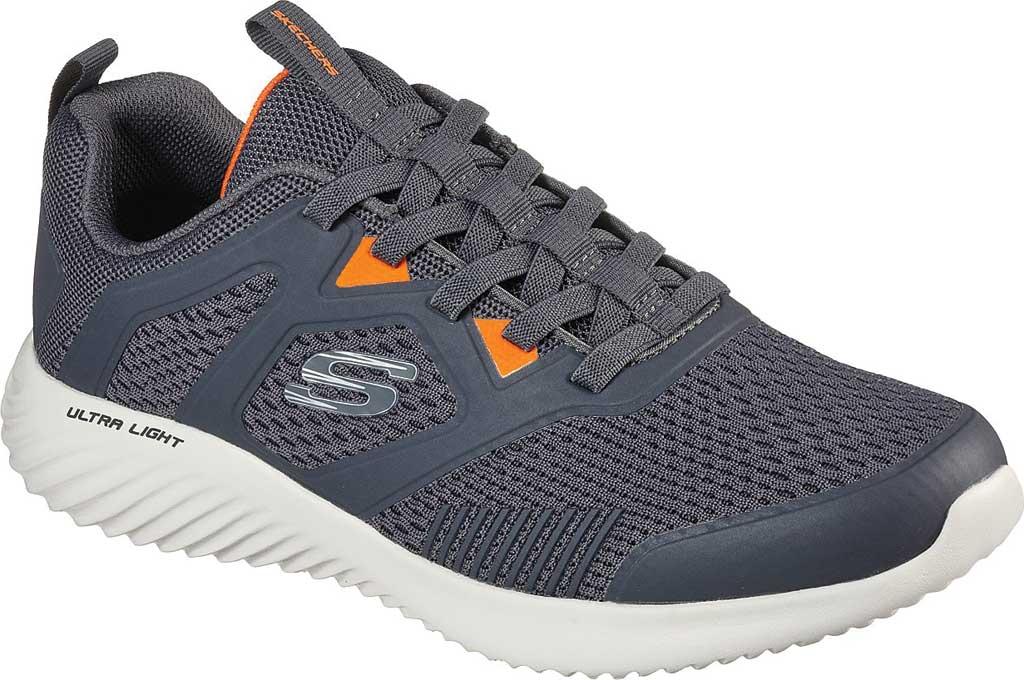 Men's Skechers Bounder High Degree Trainer, Charcoal/Orange, large, image 1