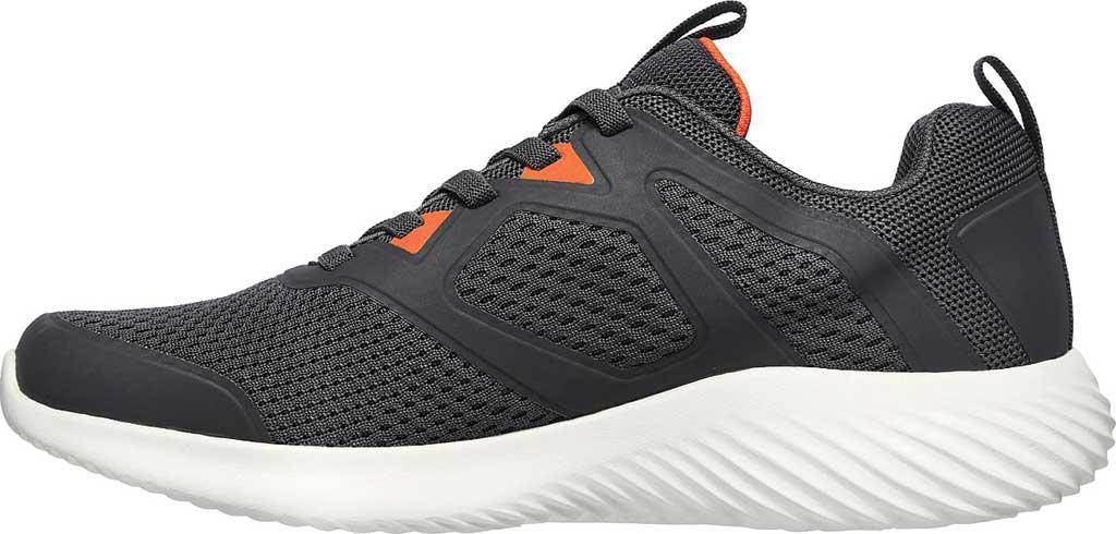 Men's Skechers Bounder High Degree Trainer, Charcoal/Orange, large, image 3