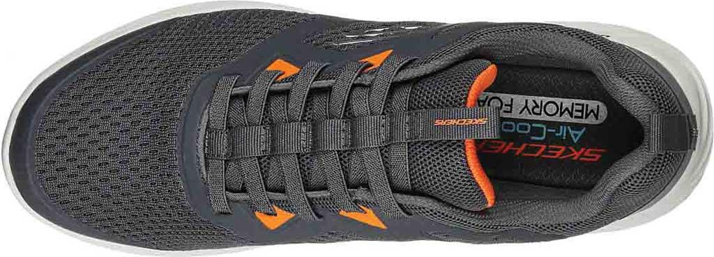 Men's Skechers Bounder High Degree Trainer, Charcoal/Orange, large, image 4