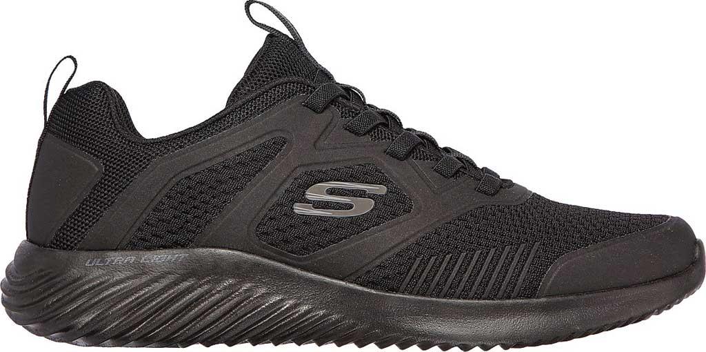 Men's Skechers Bounder High Degree Trainer, Black/Black, large, image 2
