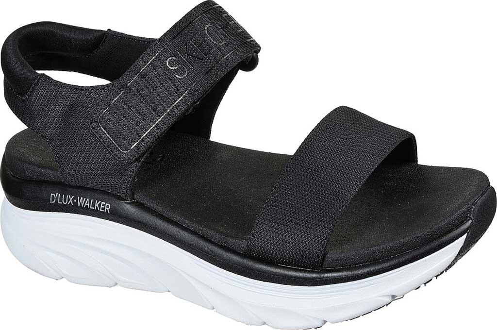 Women's Skechers Relaxed Fit D'Lux Walker New Block Active Sandal, Black, large, image 1