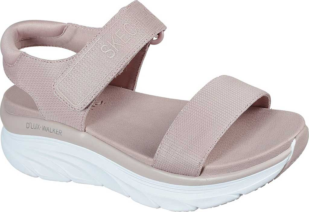 Women's Skechers Relaxed Fit D'Lux Walker New Block Active Sandal, Blush Pink, large, image 1