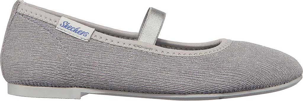 Girls' Skechers Cleo Round Sparkle Steps Mary Jane, Silver, large, image 2