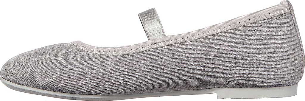 Girls' Skechers Cleo Round Sparkle Steps Mary Jane, Silver, large, image 3