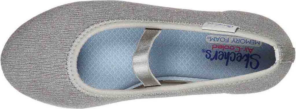 Girls' Skechers Cleo Round Sparkle Steps Mary Jane, Silver, large, image 4