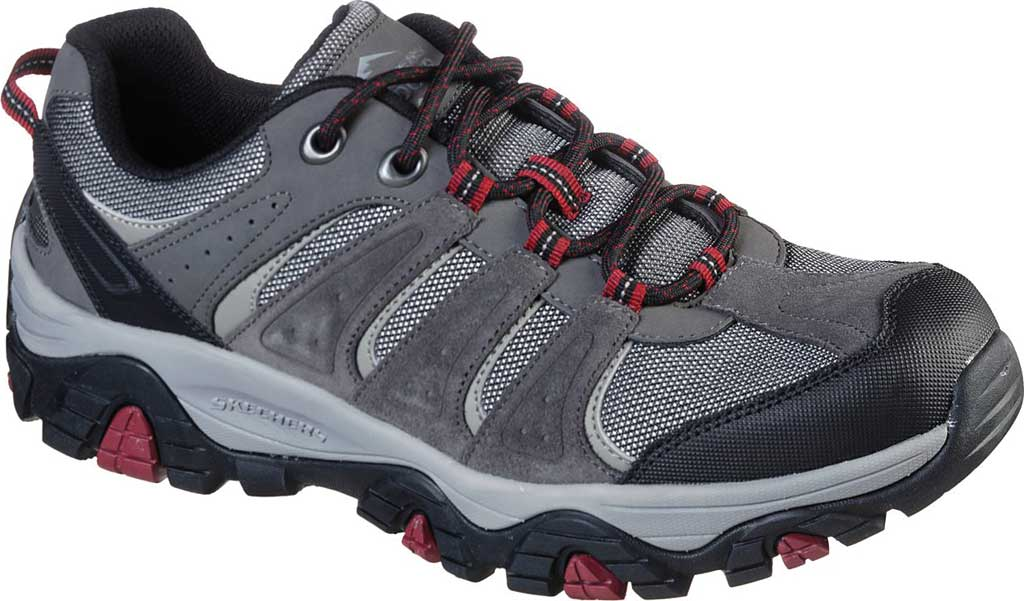 Men's Skechers Relaxed Fit Pine Trail Kordova Running Sneaker, Charcoal, large, image 1