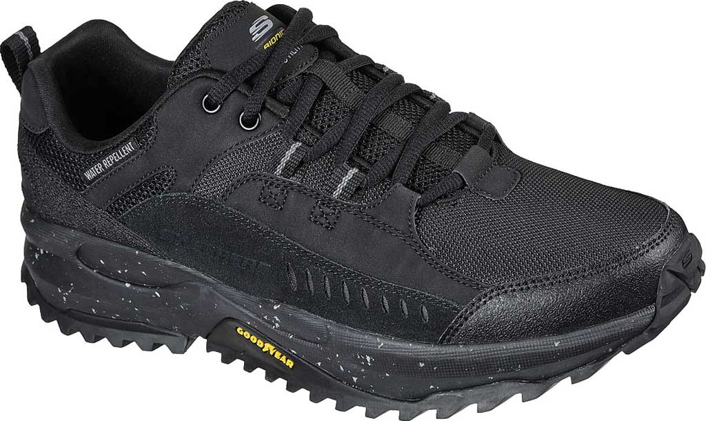 Men's Skechers Bionic Trail Road Sector Sneaker, Black/Black, large, image 1