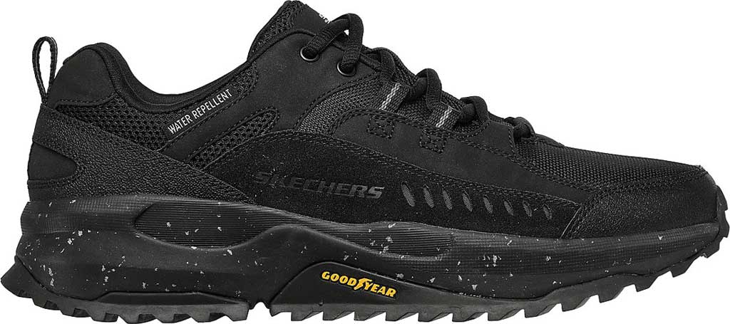 Men's Skechers Bionic Trail Road Sector Sneaker, Black/Black, large, image 2