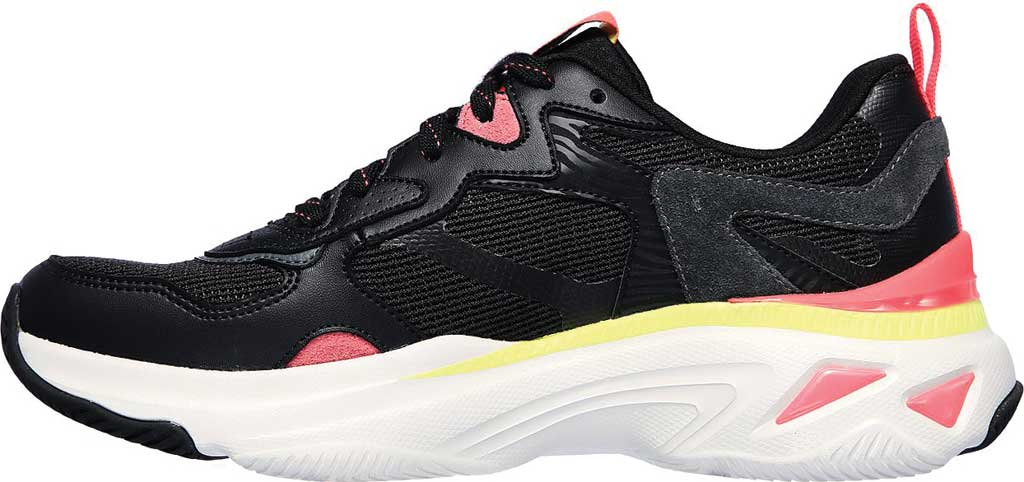 Women's Skechers Energy Racer Embrace Her Trainer, Black/Coral, large, image 3