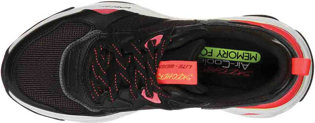 Women's Skechers Energy Racer Embrace Her Trainer, Black/Coral, large, image 4