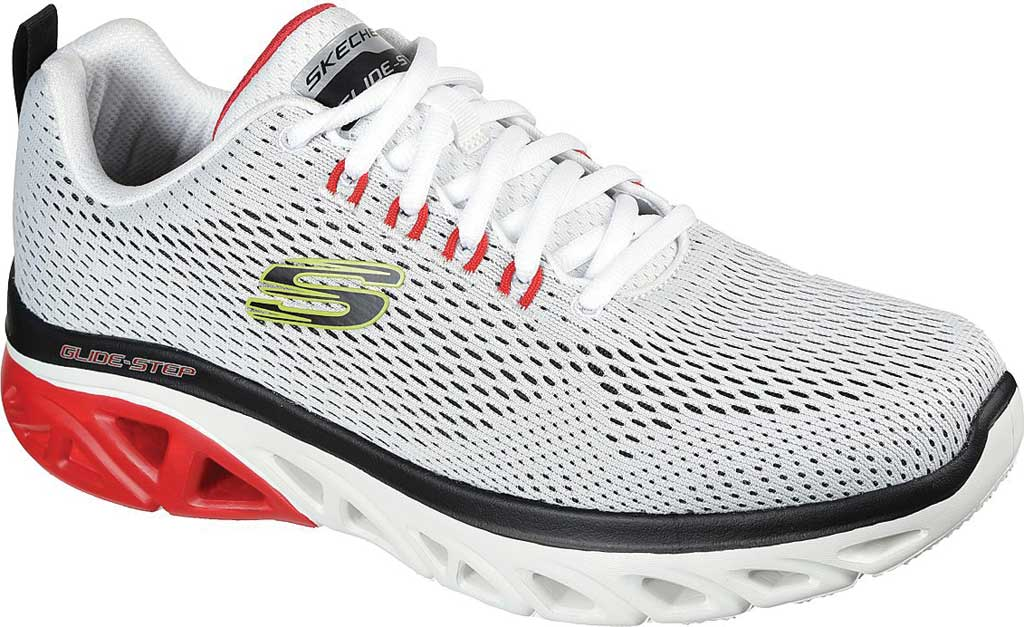 Men's Skechers Glide Step Sport Wave Heat Sneaker, White/Multi, large, image 1