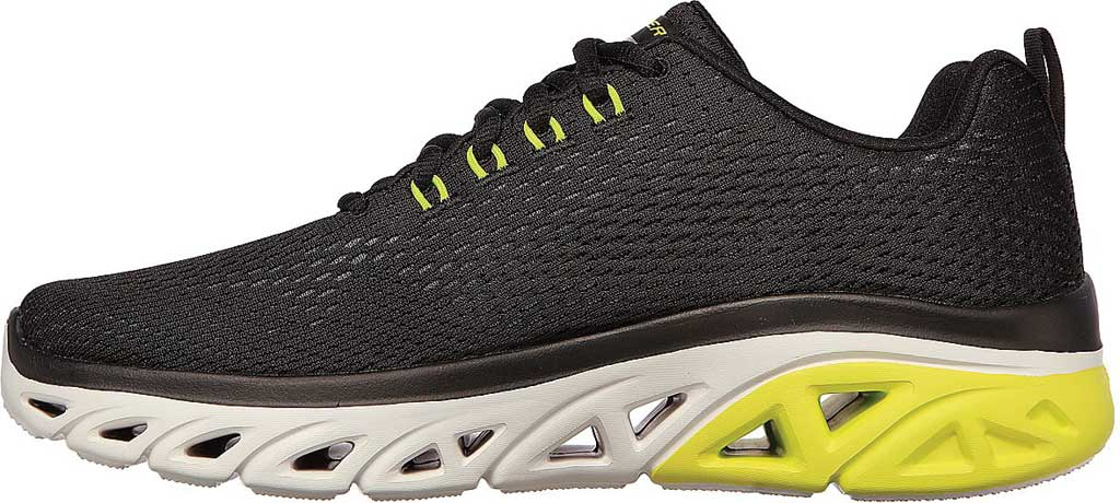Men's Skechers Glide Step Sport Wave Heat Sneaker, Black, large, image 3