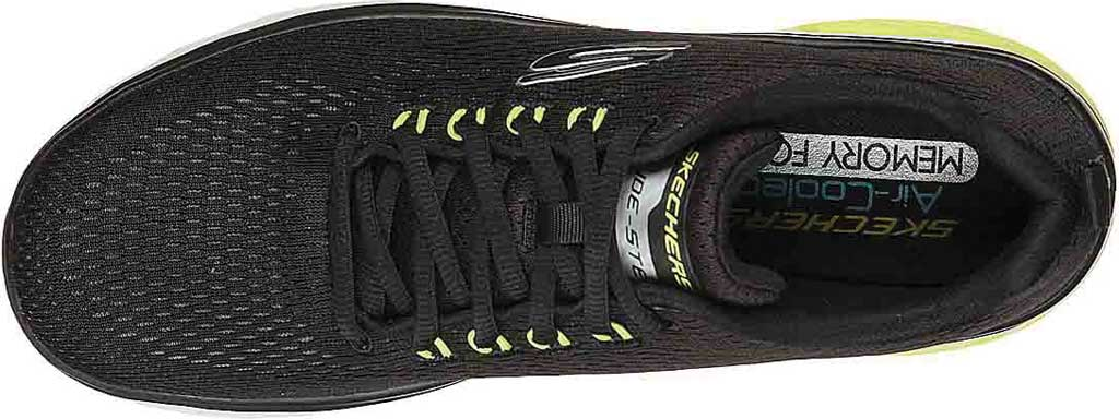 Men's Skechers Glide Step Sport Wave Heat Sneaker, Black, large, image 4