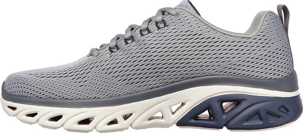 Men's Skechers Glide Step Sport Wave Heat Sneaker, Gray/Navy, large, image 3