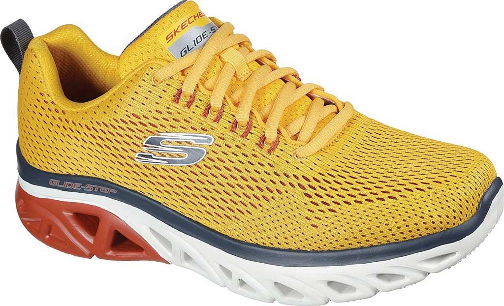Men's Skechers Glide Step Sport Wave Heat Sneaker, Yellow, large, image 1