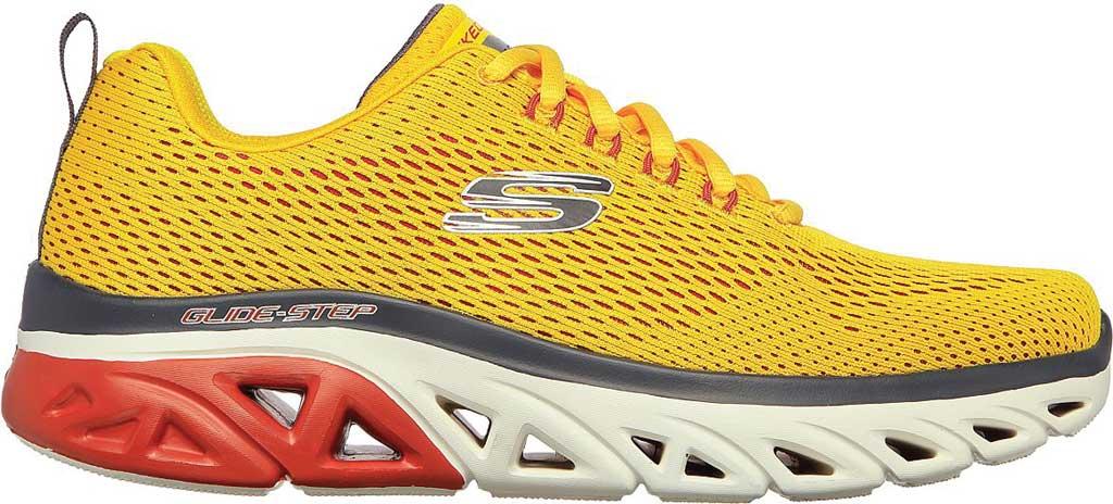 Men's Skechers Glide Step Sport Wave Heat Sneaker, Yellow, large, image 2
