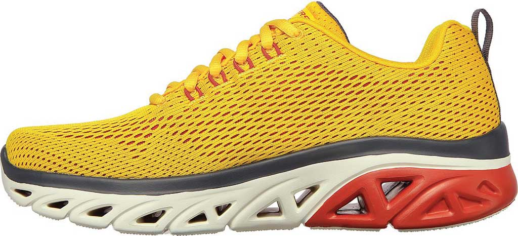 Men's Skechers Glide Step Sport Wave Heat Sneaker, Yellow, large, image 3