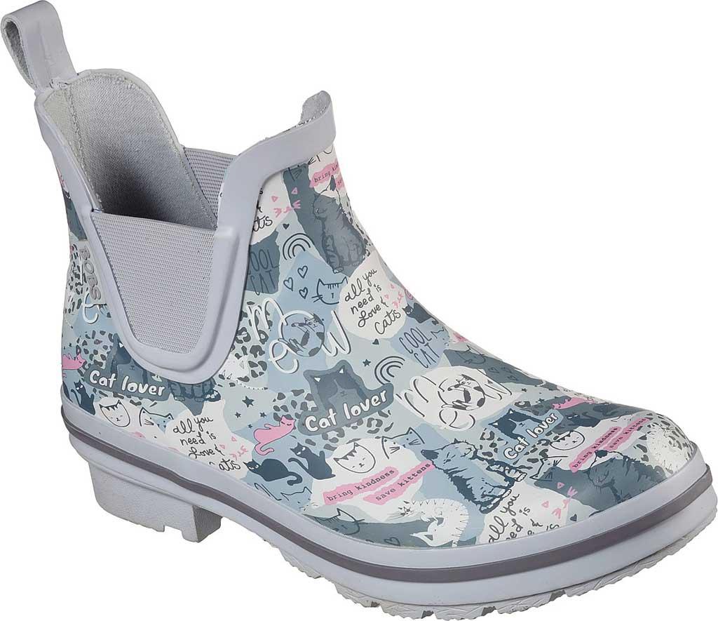 Women's Skechers BOBS Rain Check Rain Boot, Gray/Multi, large, image 1