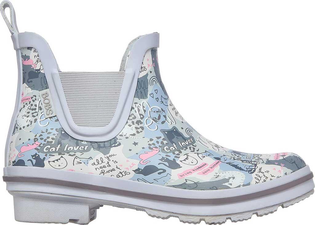 Women's Skechers BOBS Rain Check Rain Boot, Gray/Multi, large, image 2