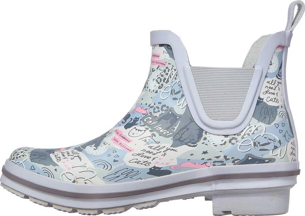 Women's Skechers BOBS Rain Check Rain Boot, Gray/Multi, large, image 3