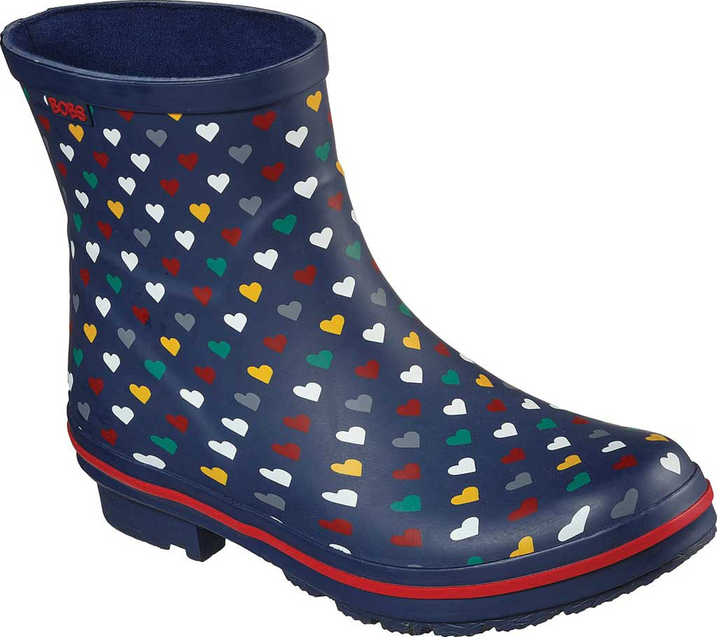Women's Skechers BOBS Rain Check Love Splash Rain Boot, Navy/Multi, large, image 1