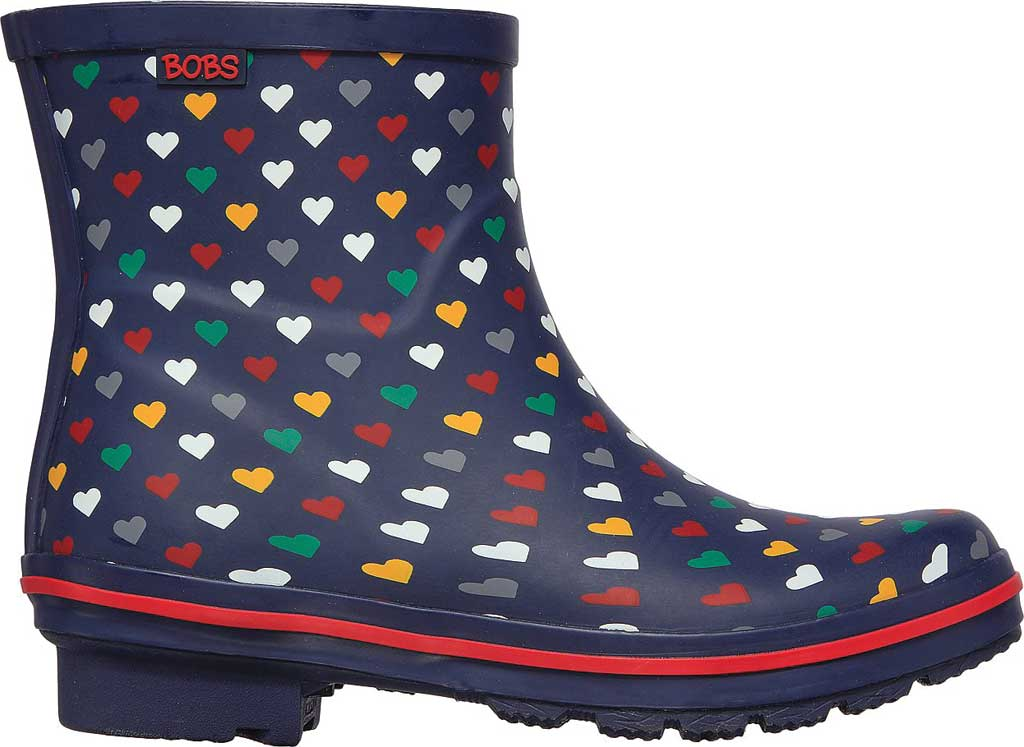 Women's Skechers BOBS Rain Check Love Splash Rain Boot, Navy/Multi, large, image 2