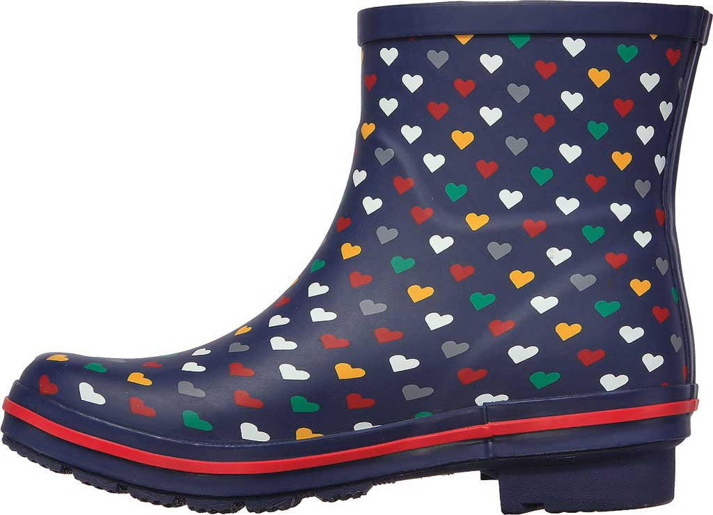 Women's Skechers BOBS Rain Check Love Splash Rain Boot, Navy/Multi, large, image 3