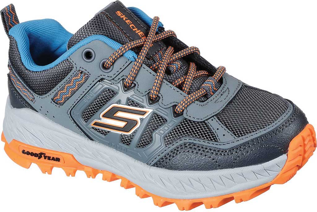 Boys' Skechers Fuse Tread Trail Shoe, Gray/Charcoal, large, image 1