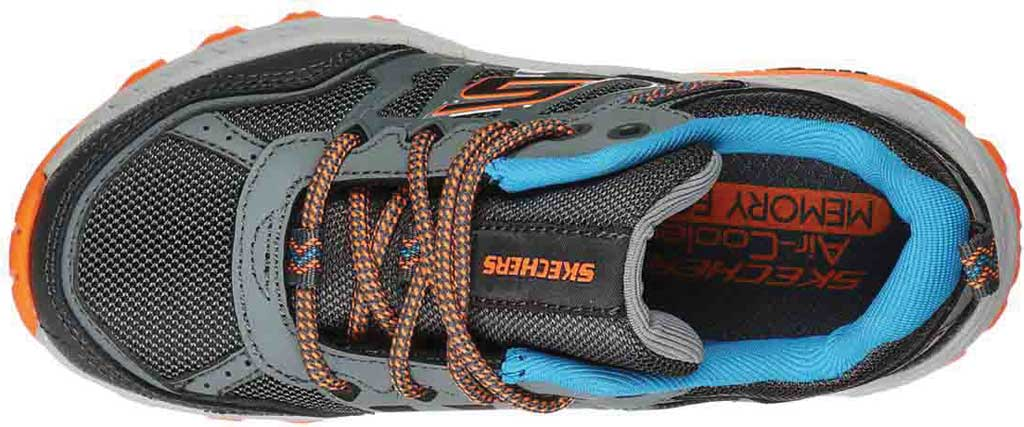 Boys' Skechers Fuse Tread Trail Shoe, Gray/Charcoal, large, image 4