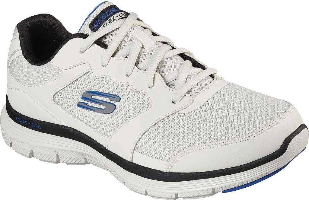 Men's Skechers Flex Advantage 4.0 Trainer, White/Black, large, image 1