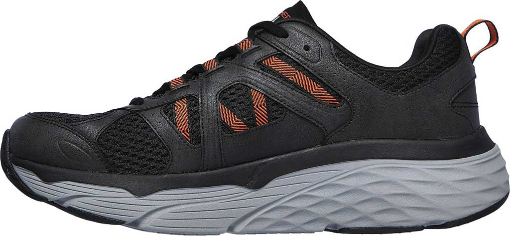 Men's Skechers Max Cushioning Elite Routine Running Sneaker, Charcoal/Orange, large, image 3