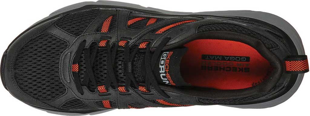 Men's Skechers Max Cushioning Elite Routine Running Sneaker, Charcoal/Orange, large, image 4