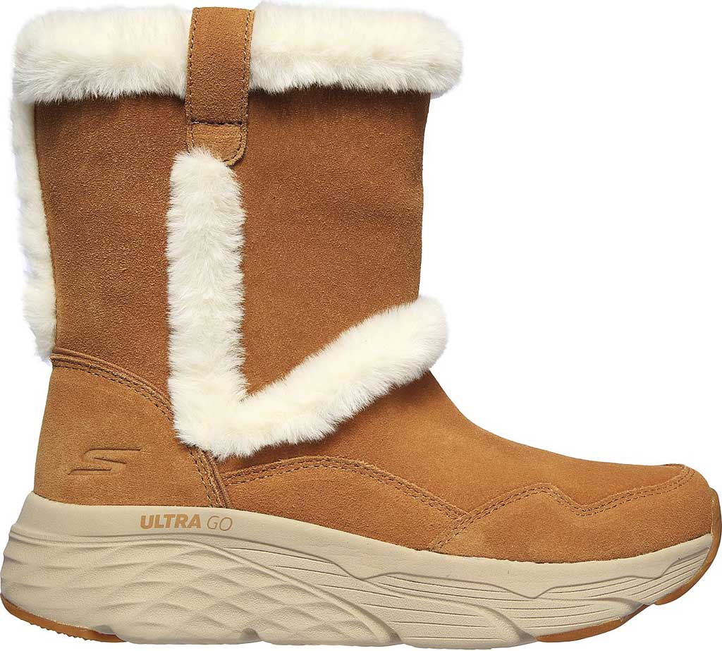 Women's Skechers Max Cushioning Bear Hug Ankle Bootie, Chestnut, large, image 2