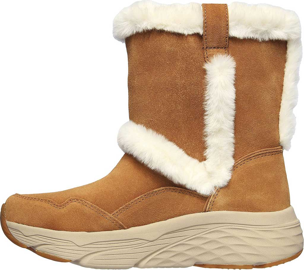 Women's Skechers Max Cushioning Bear Hug Ankle Bootie, Chestnut, large, image 3