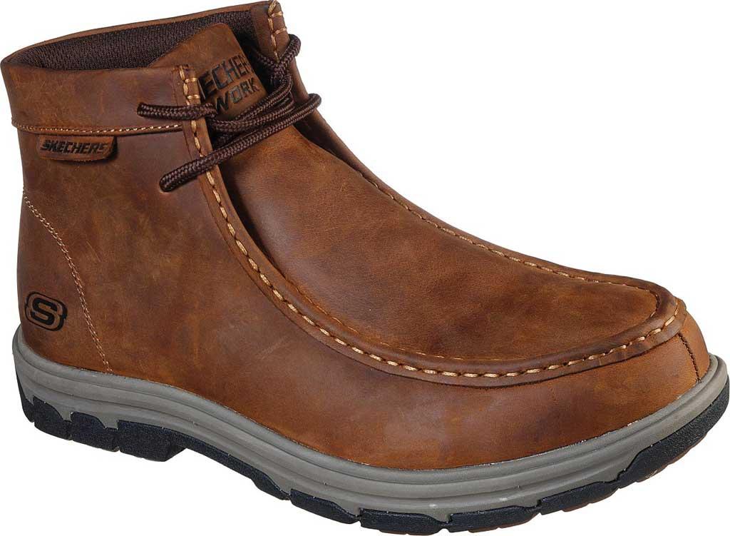 Men's Skechers Work Vicksburk Fetor Steel Toe Boot, Chocolate Dark Brown, large, image 1