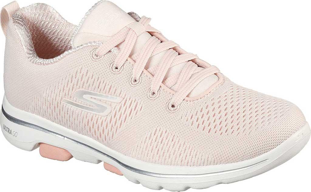 Women's Skechers GOwalk 5 Lake Views Sneaker, Light Pink, large, image 1