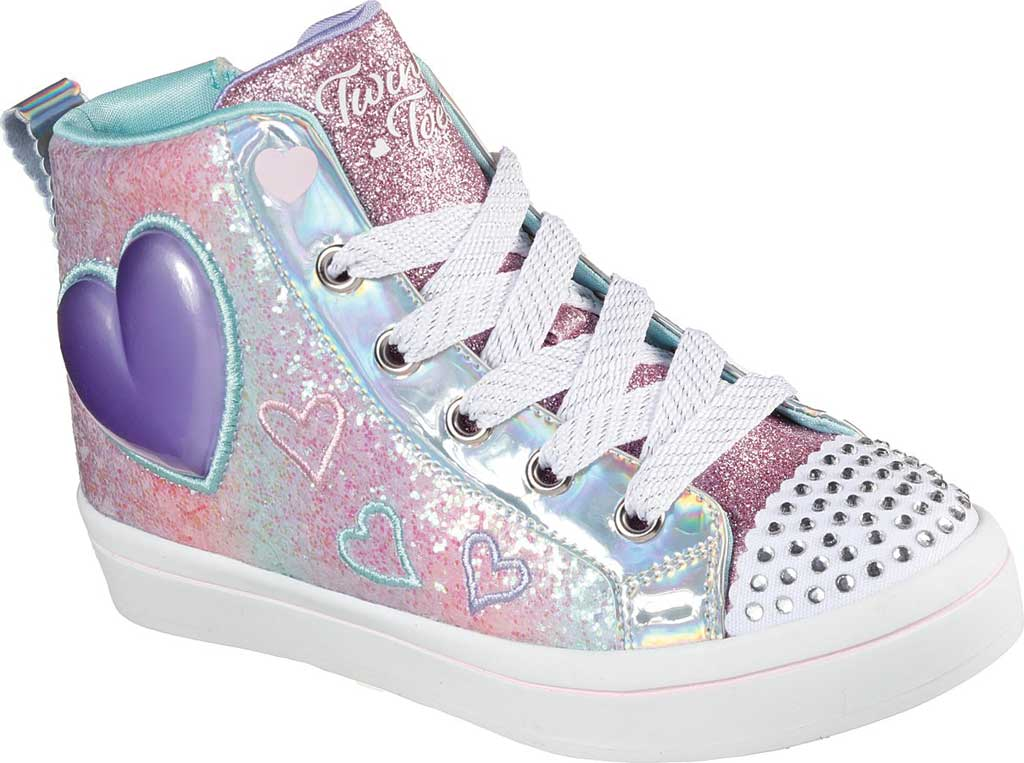 Girls' Skechers Twinkle Toes Twi-Lites 2.0 Heart Gem Sneaker, Light Pink/Multi, large, image 1