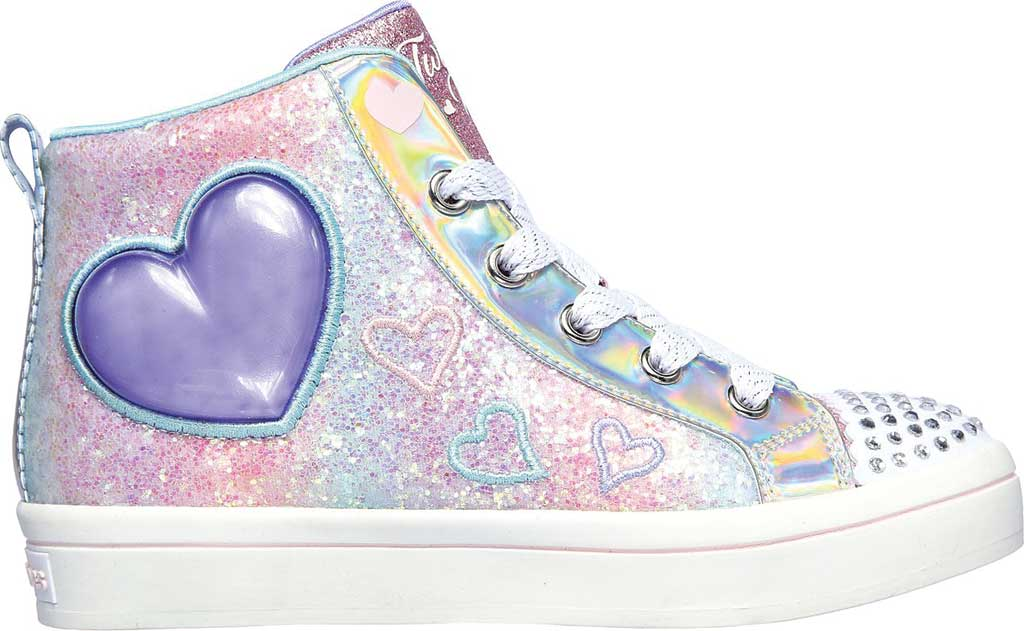 Girls' Skechers Twinkle Toes Twi-Lites 2.0 Heart Gem Sneaker, Light Pink/Multi, large, image 2