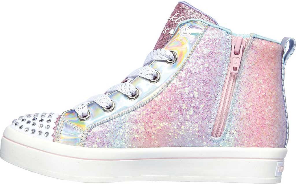 Girls' Skechers Twinkle Toes Twi-Lites 2.0 Heart Gem Sneaker, Light Pink/Multi, large, image 3