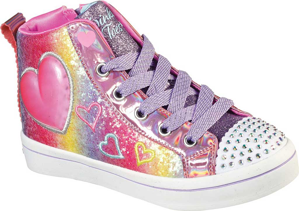 Girls' Skechers Twinkle Toes Twi-Lites 2.0 Heart Gem Sneaker, Multi, large, image 1