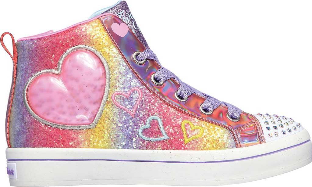 Girls' Skechers Twinkle Toes Twi-Lites 2.0 Heart Gem Sneaker, Multi, large, image 2