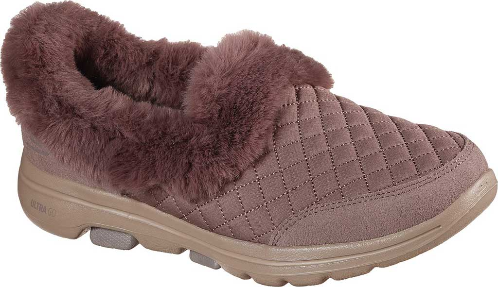 Women's Skechers GOwalk 5 Coziness Sneaker, Dark Taupe, large, image 1