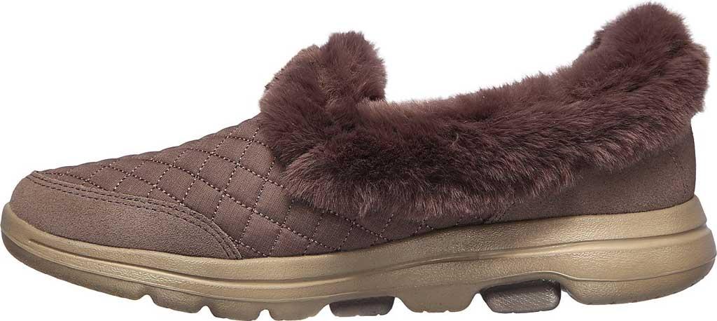 Women's Skechers GOwalk 5 Coziness Sneaker, Dark Taupe, large, image 3
